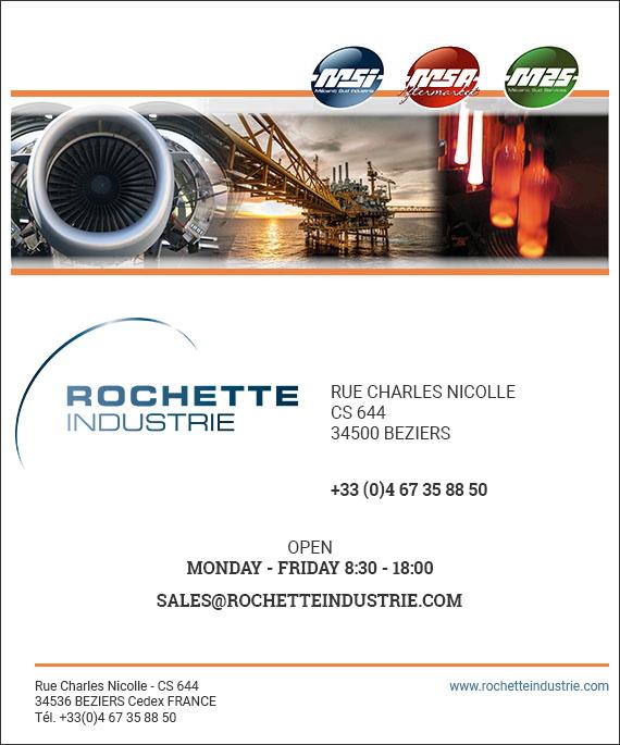 MSI MSA MCA M2S formulaire contact Rochette industrie