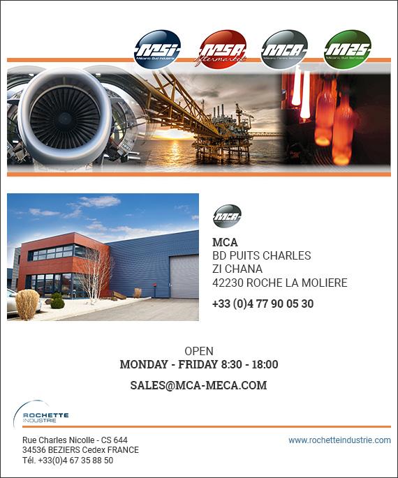 Formulaire de contact MCA rochette industrie mecanic sud centre aeroptic