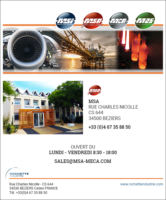 Formulaire de contact MSA rochette industrie mecanic sud after market