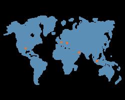 Carte du monde de nos clients mecanic sud after market