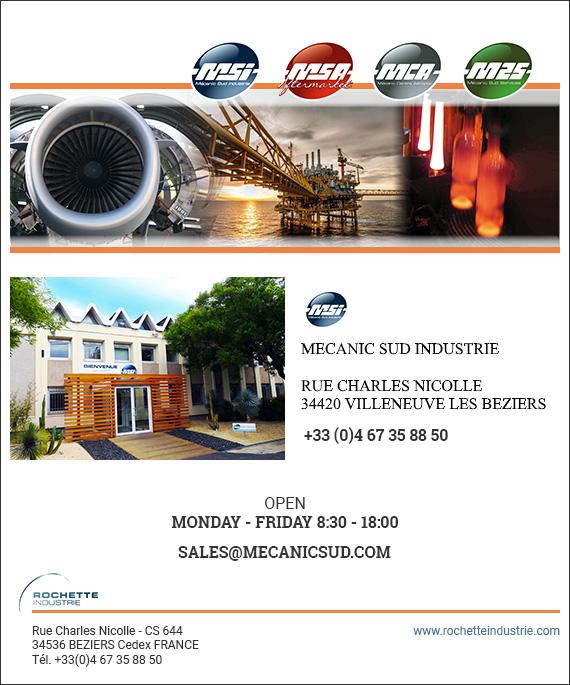 Formulaire de contact MSI rochette industrie mecanic sud industrie